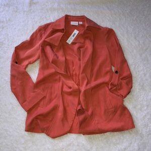 Chico's peach light weight soft jacket